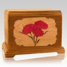 Carnation Mahogany Hampton Cremation urn