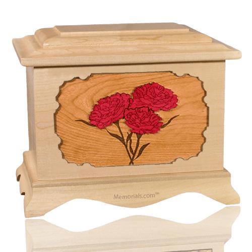 Carnation Maple Cremation Urn