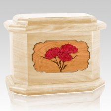 Carnation Maple Octagon Cremation Urn