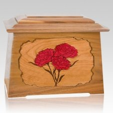 Carnation Oak Aristocrat Cremation Urn