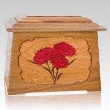 Carnation Oak Aristocrat Cremation Urn