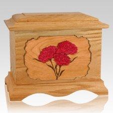Carnation Oak Cremation Urn