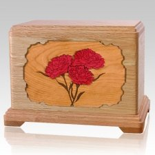 Carnation Oak Hampton Cremation Urn