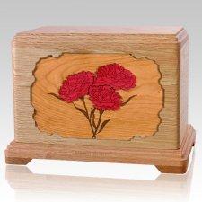 Carnation Oak Hampton Cremation Urn