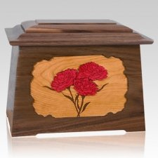 Carnation Walnut Aristocrat Cremation Urn