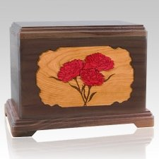 Carnation Walnut Hampton Cremation Urn
