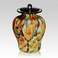 Carnival of Life Glass Companion Funeral Urn