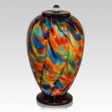 Carnival Glass Cremation Urn
