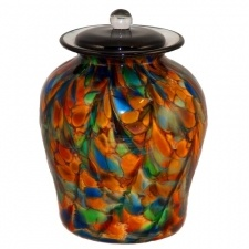 Carnival of Life Glass Urn