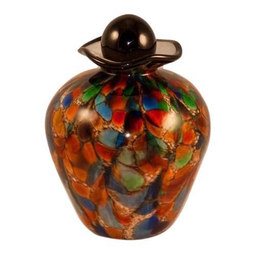 Carousal Glass Pet Cremation Urn