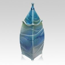 Cascade Ceramic Cremation Urn