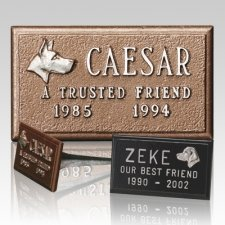 Cast Aluminum Pet Headstone