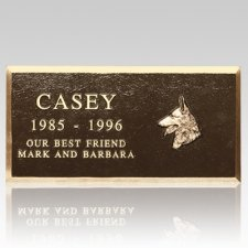 Cast Bronze Large Pet Headstone