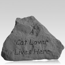 Cat Lover Pet Memorial Stone