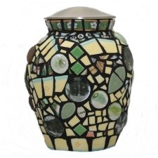 Cat Mosaic Cremation Urn