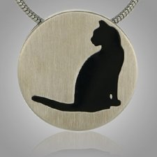 Cat Signet Pewter Keepsake Pendant