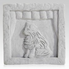 Cat in Window Memorial Stone