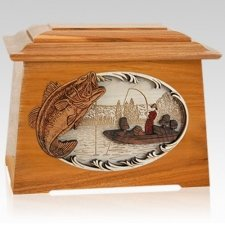 Catch of the Day Mahogany Aristocrat Cremation Urn