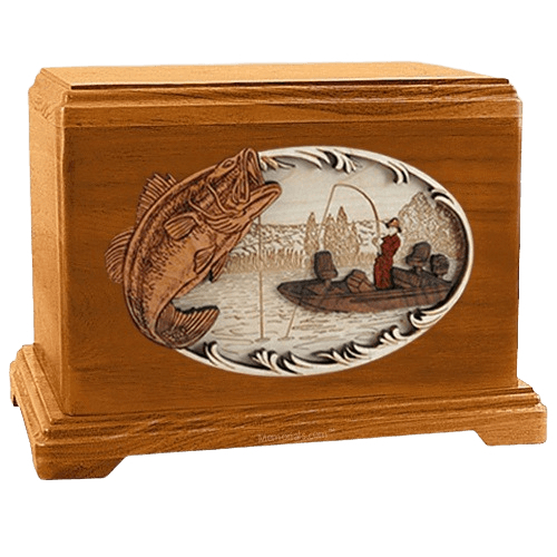 Catch of the Day Mahogany Hampton Cremation Urn
