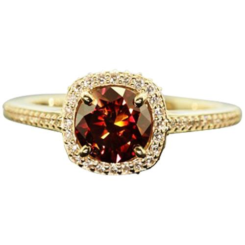 Cathedral Ring With Accent Diamonds II