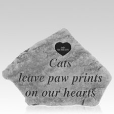 Cats Leave Paw Prints Memory Stone