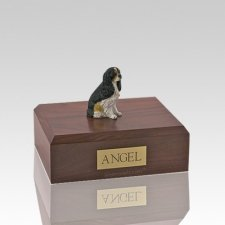 Cavalier Tri-Color Small Dog Urn