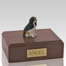 Cavalier Tri-Color Dog Urns