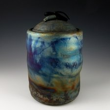 Celestial Cloud Raku Cremation Urn