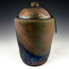 Celestial Touch Raku Cremation Urn