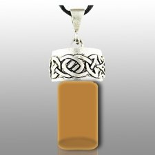 Celtic Brown Pet Cremation Necklace