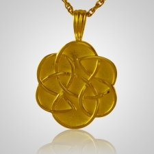 Celtic Flower Cremation Pendant IV
