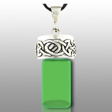 Celtic Green Pet Cremation Necklace