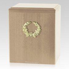 Champion Wreath Maple Cremation Urn