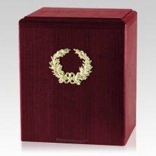 Champion Wreath Rosewood Cremation Urn