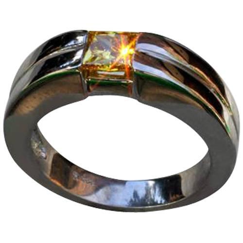 Channel Set Princess Ring