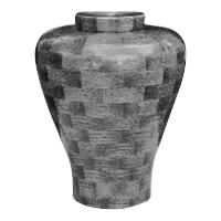 Charcoal Large Wood Urn