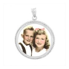 Charm White Gold Photo Jewelry