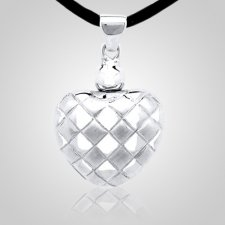 Checkered Heart Cremation Pendant