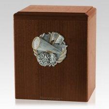 Cheerleader Walnut Cremation Urn