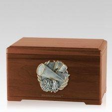 Cheerleading Walnut Cremation Urn