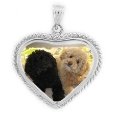 Cherish White Gold Photo Pendant