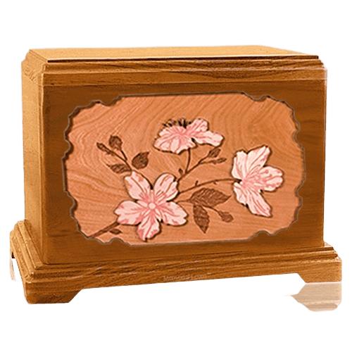 Cherry Blossom Mahogany Hampton Cremation Urn