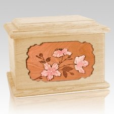 Cherry Blossom Maple Memory Chest Cremation Urn