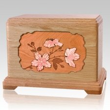 Cherry Blossom Oak Hampton Cremation Urn