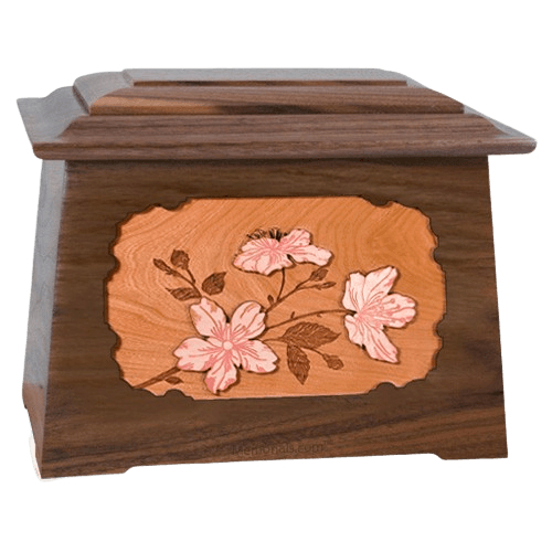 Cherry Blossom Walnut Aristocrat Cremation Urn
