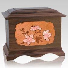 Cherry Blossom Wood Cremation Urns
