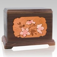 Cherry Blossom Walnut Hampton Cremation Urn