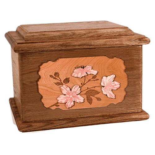 Cherry Blossom Walnut Memory Chest Cremation Urn