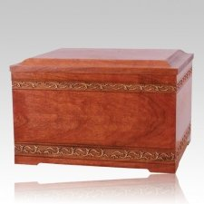 Cherry Inlay Companion Cremation Urn