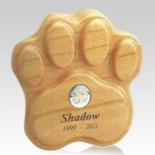 Cherry Paw Print Pet Keepsake Urn